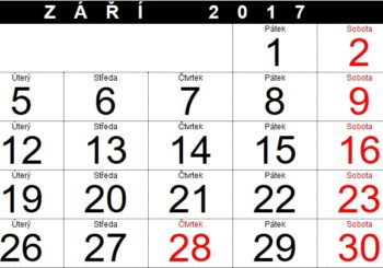 Organizace školního roku 2017/2018