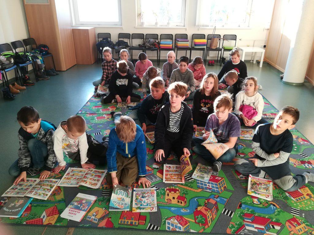 Třeťáci na besedě v knihovně