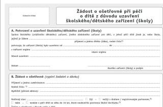 <font color = red>Žádost o ošetřovné</font>
